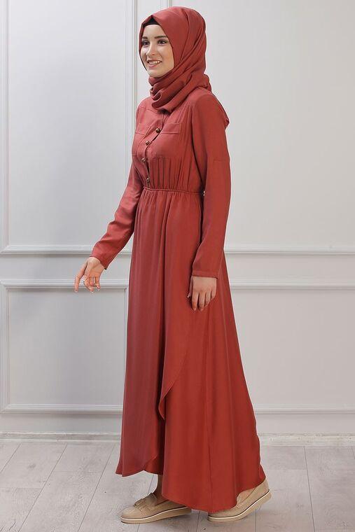 Kiremit Ayça Elbise - RZ153385
