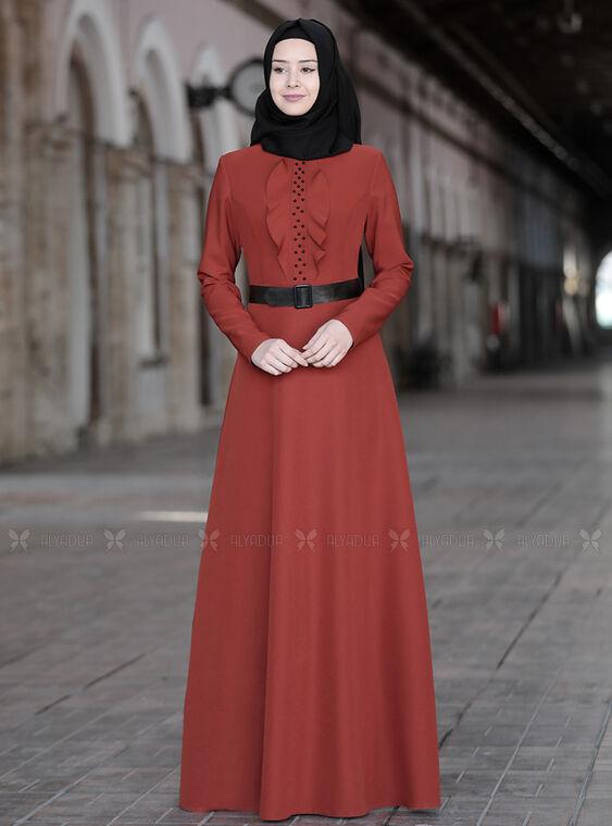 Sefanisa - Kiremit Ela Elbise - SFN15012