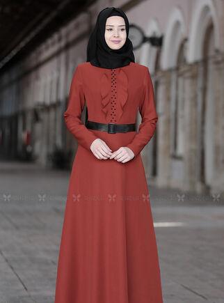 Kiremit Ela Elbise - SFN15012 - Thumbnail