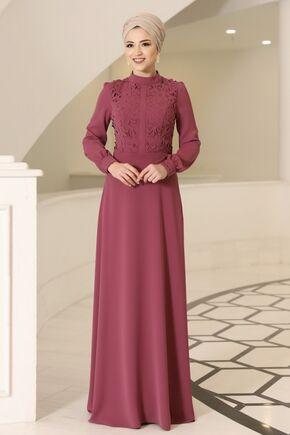 Gül Kurusu Mira Elbise - DL16099 - Thumbnail