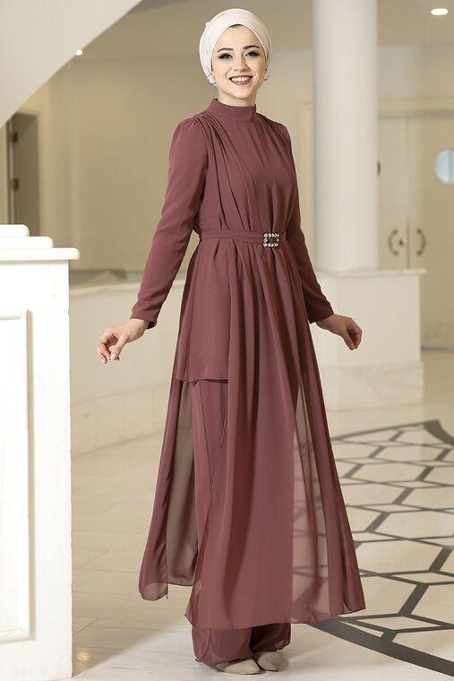 Dress Life - Kiremit Elif İkili Takım - DL16094
