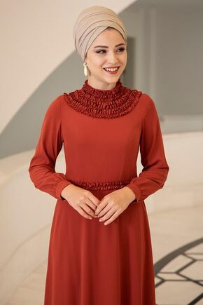 Kiremit Eslem Elbise - DL15686 - Thumbnail