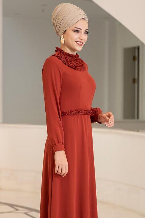 Kiremit Eslem Elbise - DL15686