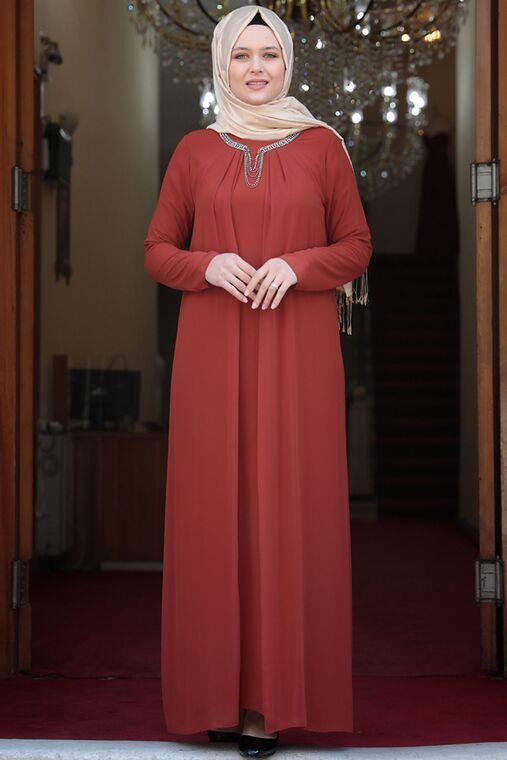 Amine Hüma - Kiremit Esma Elbise - AMH16101