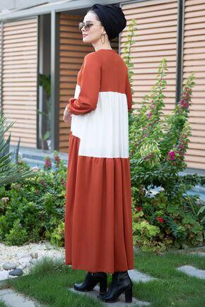 Kiremit Farah Elbise - SES15381 - Thumbnail