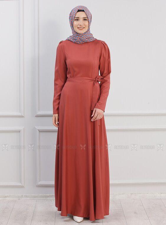 Piennar - Kiremit Hazal Elbise - PN15293