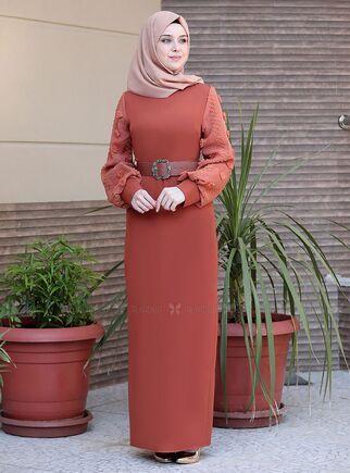 Emsale - Kiremit Lal Elbise - ES15094