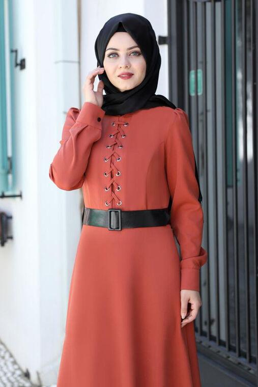 Ahunisa - Kiremit Mina Elbise - AHU16527