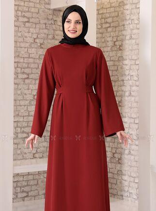 Kiremit Yonca Abaya Elbise - FS15211 - Thumbnail