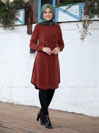 Dress Life - Kiremit İkra Tunik - DL14501