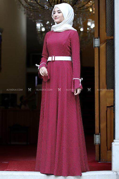 Kırmızı Afife Elbise - RS13845