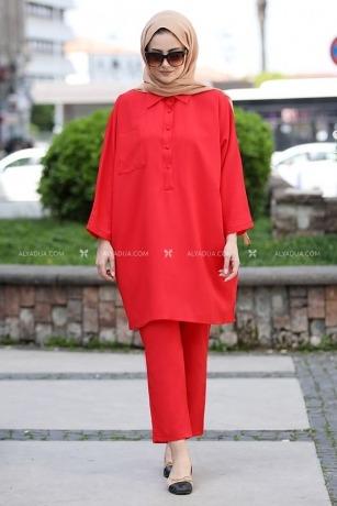 Seda Tiryaki - Kırmızı Beyza İkili Takım - ST13684
