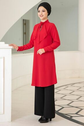 Kırmızı Ekin Tunik - DL15682 - Thumbnail