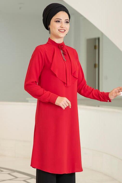 Kırmızı Ekin Tunik - DL15682