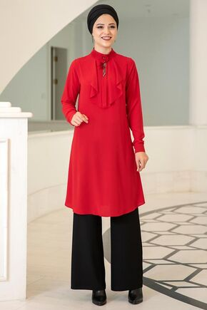 Dress Life - Kırmızı Ekin Tunik - DL15682