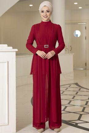 Kırmızı Elif İkili Takım - DL16092 - Thumbnail