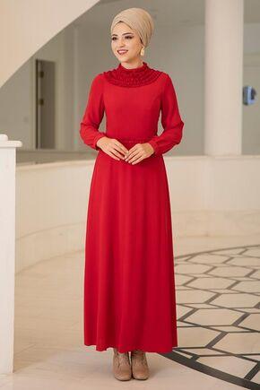 Dress Life - Kırmızı Eslem Elbise - DL15688