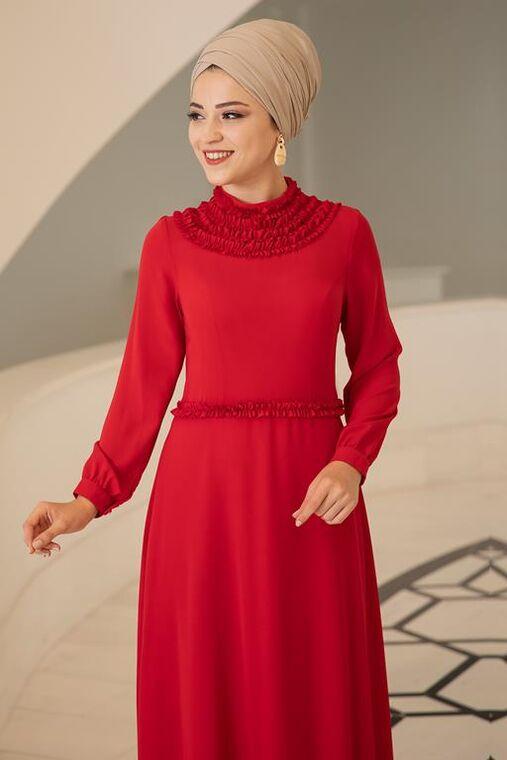 Kırmızı Eslem Elbise - DL15688