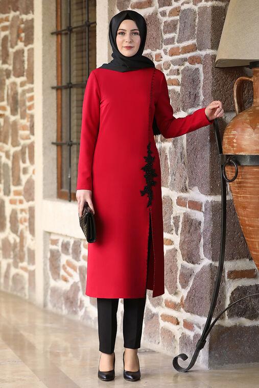 Elben Moda - Kırmızı Hera İkili Takım -ELM16516