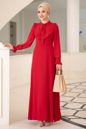 Dress Life - Kırmızı Irmak Elbise - DL15676