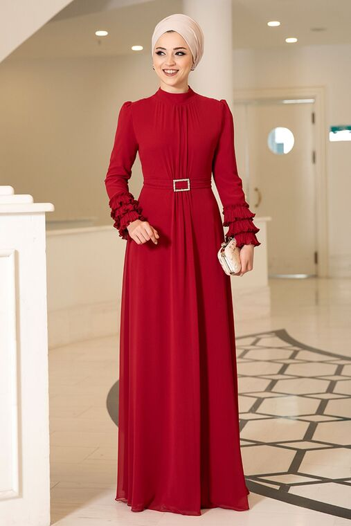 Dress Life - Kırmızı Lina Elbise - DL16118