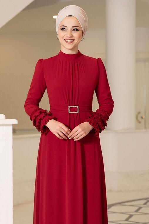 Kırmızı Lina Elbise - DL16118