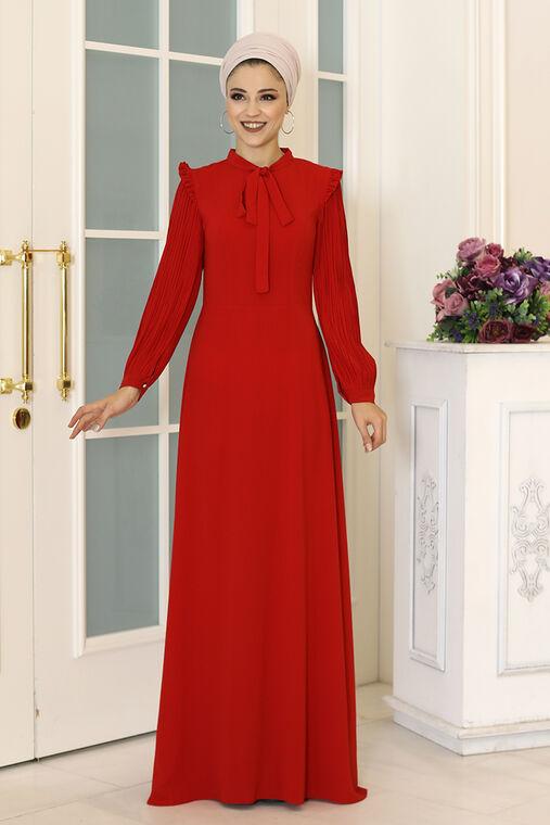 Dress Life - Kırmızı Merve Elbise - DL16494