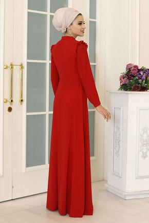 Kırmızı Merve Elbise - DL16494 - Thumbnail