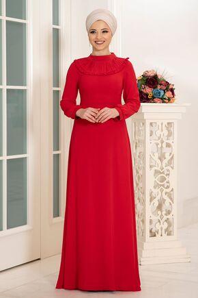 Dress Life - Kırmızı Selin Elbise - DL16165
