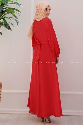 - Kırmızı Taşlı Abiye - ES11983 (1)