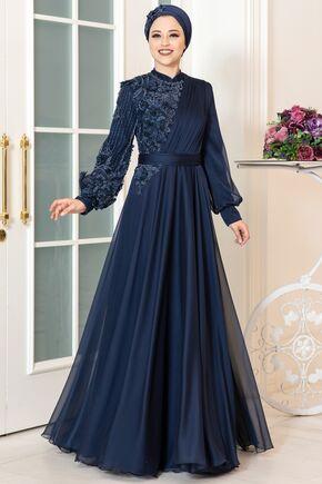 Dress Life - Lacivert Melisa Abiye - DL16265