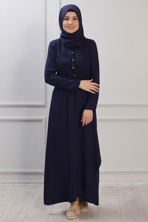 Lacivert Ayça Elbise - RZ153384