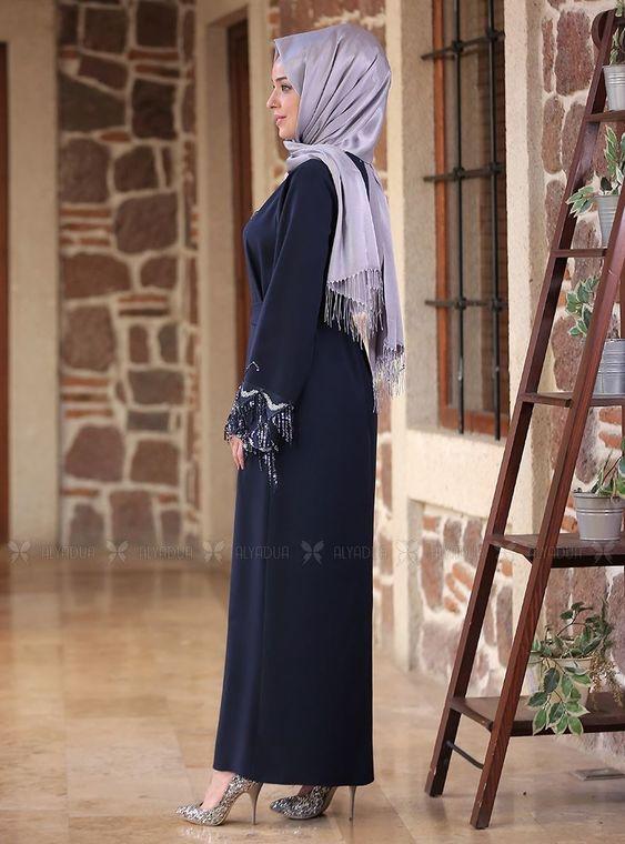 Lacivert Duru Elbise - ES14586