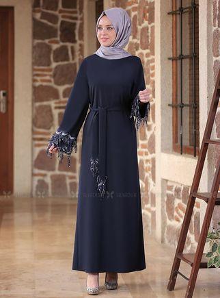 Emsale - Lacivert Duru Elbise - ES14586