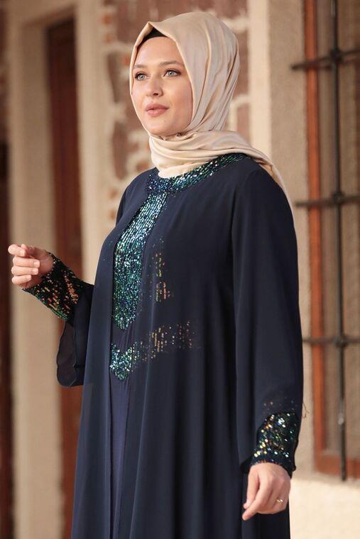 Lacivert Narin Abiye - AMH16466