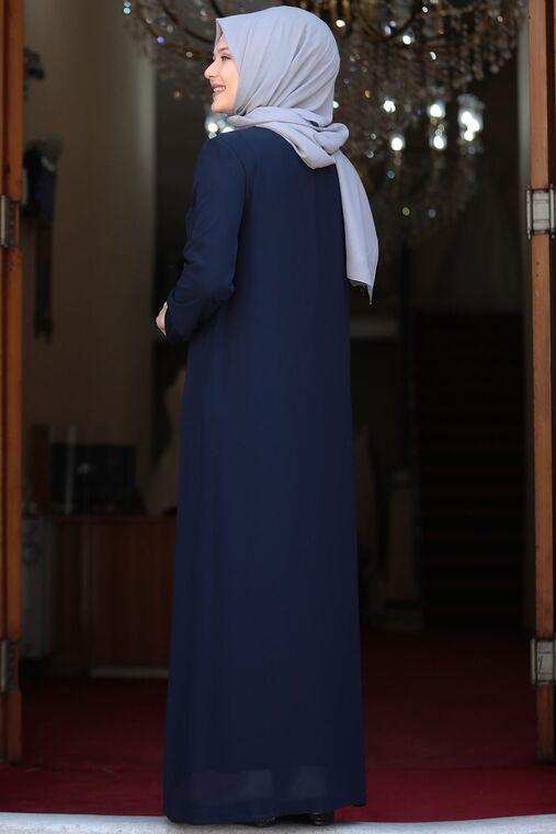 Lacivert Parıltı Abiye - AMH16106