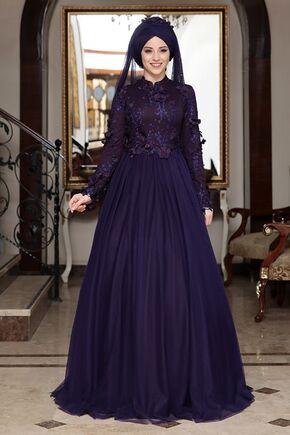 Dress Life - Lacivert Seyran Abiye - DL16354