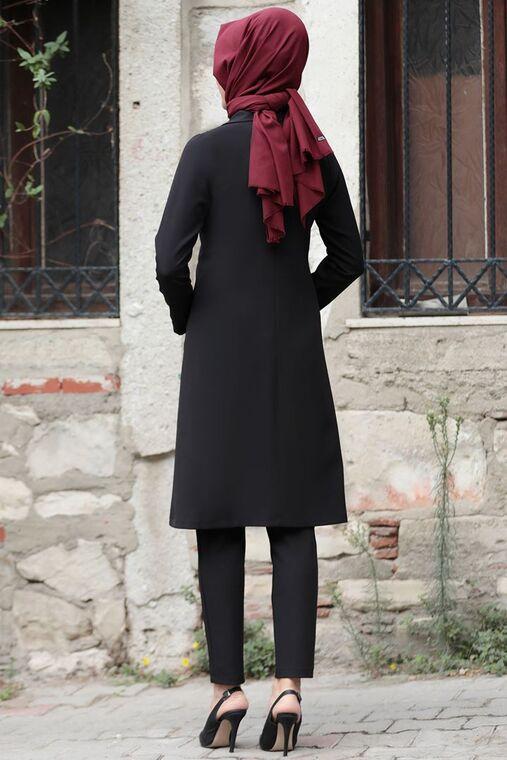 Lacivert Sude Deri Kap Ve Pantolon - RZ15576