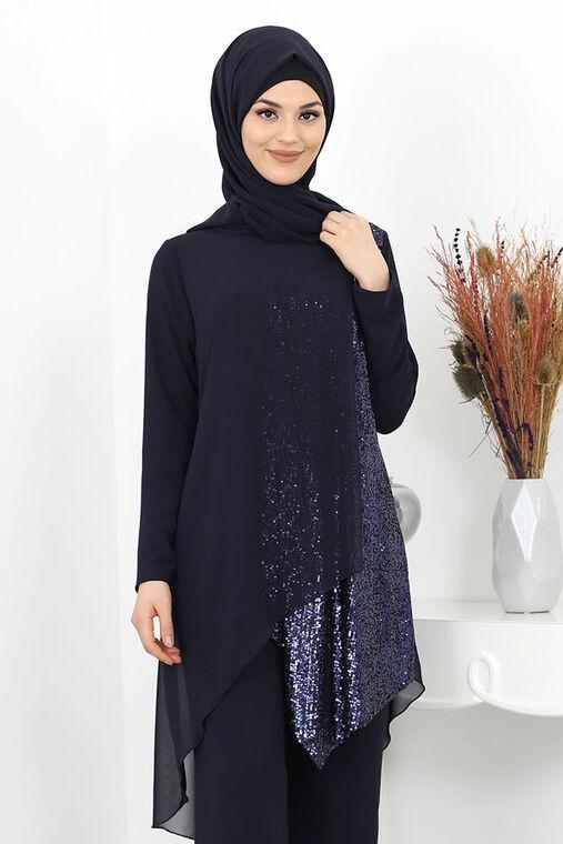 Lacivert Zehra Abiye Takım - SUR15989