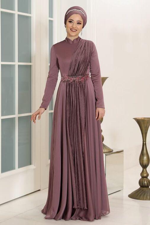 Dress Life - Gül Kurusu Endam Abiye - DL16307