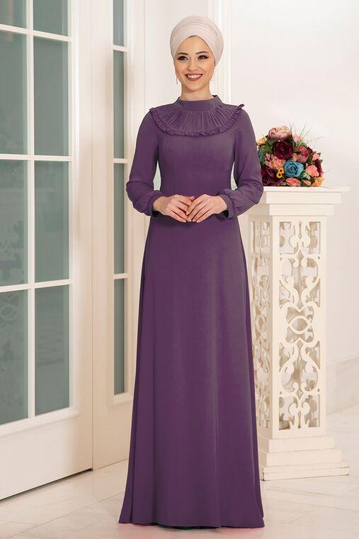 Leylak Selin Elbise - DL16164
