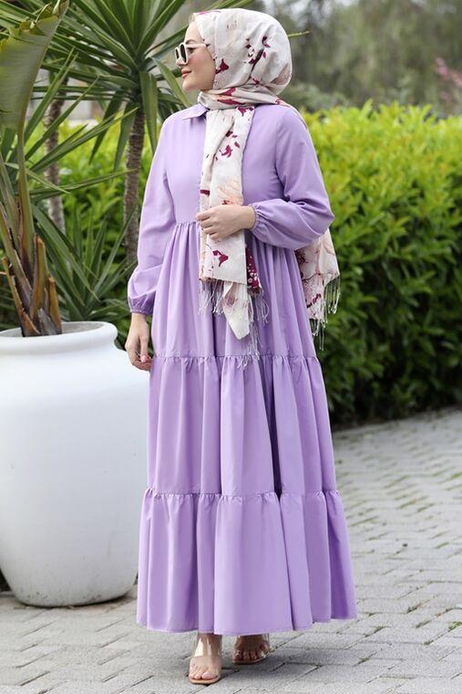 Seda Tiryaki - Lila Alaçatı Elbise - ST15896
