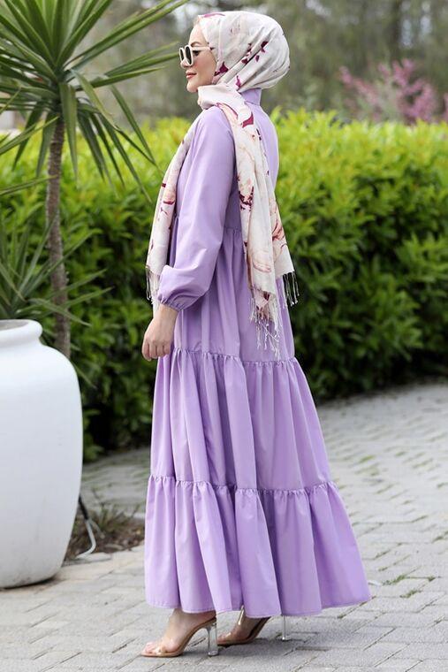 Lila Alaçatı Elbise - ST15896