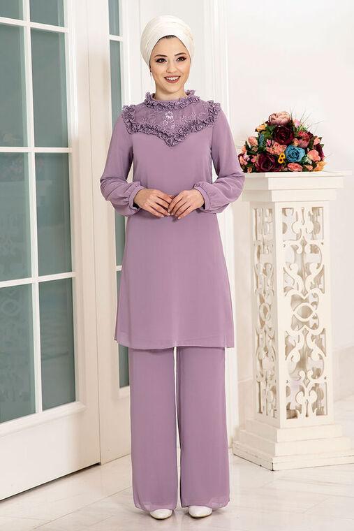 Dress Life - Lila Burçak İkili Takım - DL16120