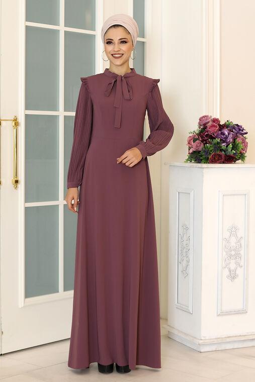 Dress Life - Lila Merve Elbise - DL16496