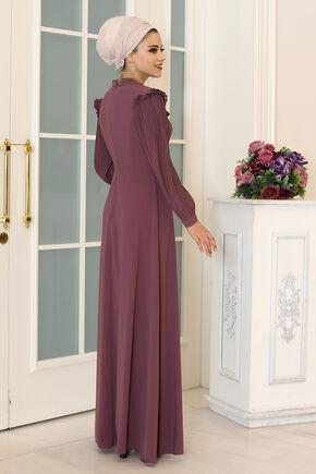 Lila Merve Elbise - DL16496 - Thumbnail