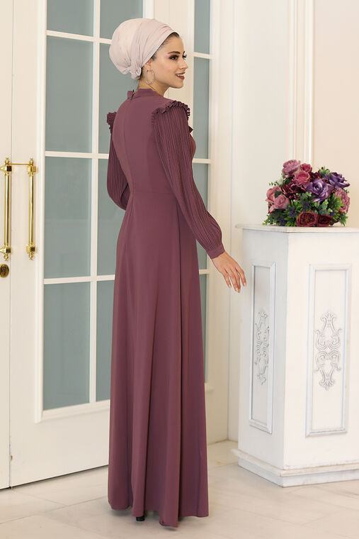 Lila Merve Elbise - DL16496