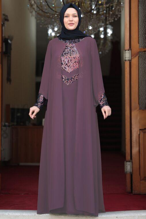 Amine Hüma - Lila Narin Abiye - AMH16465