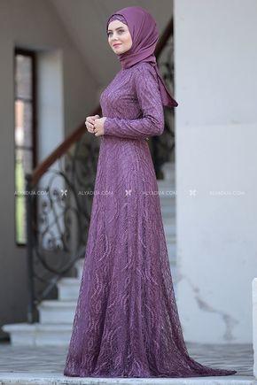 Lila Parıltı Abiye - AHU14116 - Thumbnail