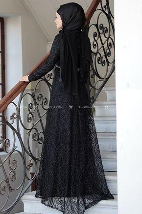 Siyah Parıltı Abiye - AHU14117 - Thumbnail